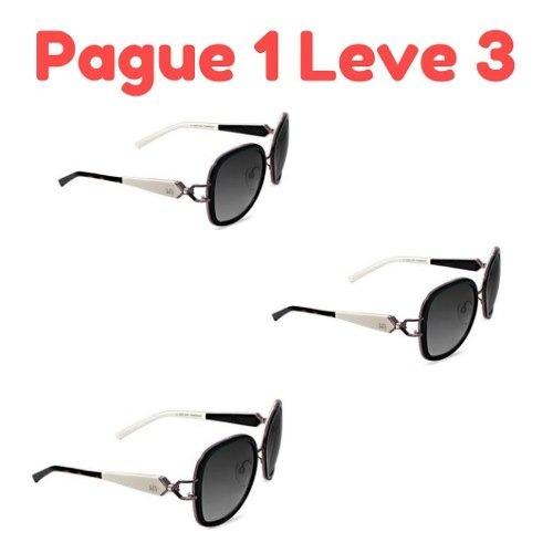 Kit 3 Oculos De Sol Original Ana Hickman Promoção - R  169,00 em ... 16302d6066