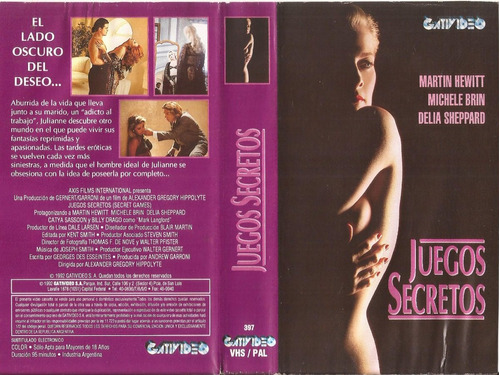 Juegos Secretos Vhs Martin Hewitt Michele Brin Delia Sheppar 80