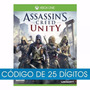 Jogo Assassins Creed Unity Xbox One Código 25 Digitos