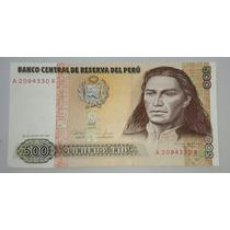 Billete De Perú 500 Intis *013