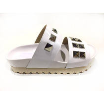 Zapato Mujer Sandalia Gomon Doble Faja Tachas Ultima Moda!