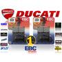 Pastilla De Freno Ebc Juego Del Ducati Monster S4 Foggy