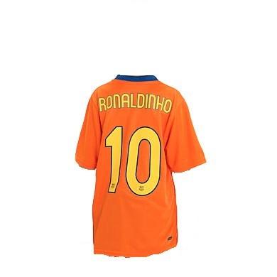 Camisa Barcelona 2006 7 -  10 Ronaldinho - R  400 c180c454e7211
