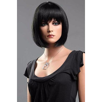 Peruca Wig Chanel Preta Pronta Entrega Melhor Preço Promoção