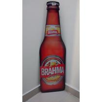 Placa Formato Garrafa Brahma Cerveja Mdf Decoração Bar