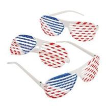 Patriótico Shutter Glasses Shading (1 Docena) - A Granel