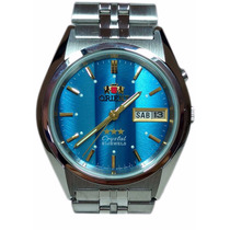 Relogio Orient Automatico Classico Masculino - Azul Listra