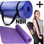 Mat Yoga Colchoneta Pilates Fitness Caucho Nbr 10mm + Bolso