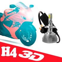Xenon Super Led Branca 3d H4 Lampada Farol Dianteiro De Moto