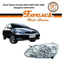 Farol Toyota Corolla 2005 2006 2007 2008 Adaptável 2003 2004