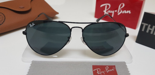 c3e674d570 Óculos Sol Ray-ban Aviator Rb3025 Preto Clássico 58 Médio - R  290 ...