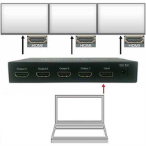 Adaptador Laptop Video-wall Thunderbolt Macbook Hasta 4 Tv