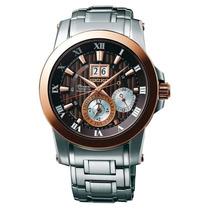 Reloj Luxury Seiko Snp128p1 Premier Kinetic Silver-tone