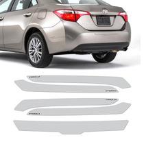 Protetor Parachoque Resinado Do Toyota Corolla Preto 5 Peças