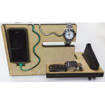 Mueble Para Celular Y Smart Watch Con Diseño Para Cables