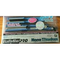 Plancha Babyliss Nano Titanium Pro Con Cepillo Ancha Y Fina