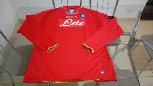 5ebc985d3c Camisa Macron Manga Longa Futebol Napoli Italia - R  170