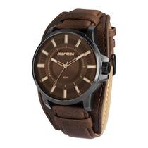Relógio Masculino Mormaii Pulseira De Couro - Mo2035aw/3c