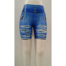 Kit 3 Shorts Legging Estampa Jeans Ótima Qualidade