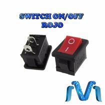 Switch On Off Interruptor Boton Rojo