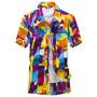 Men Tropical Party Hawaiian Aloha Shirt Summer Floral Short