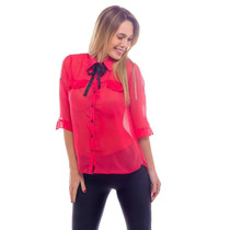 Camisa Mujer Gasa Con Lazo Verano 2017 !!!