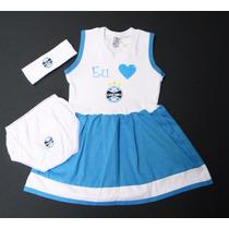 Conjunto Vestido Do Grêmio De 0 À 18 Meses (meninas)