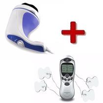 Kit Massagem Acupuntura Tens & Fes Digital + Spin Relax Tone