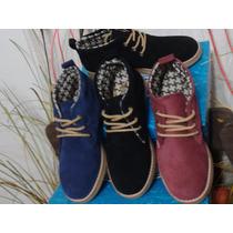 Botitas Zapato Dama Cuero Gamuzado Calzados Envio Gratis
