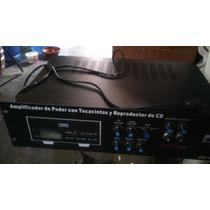 Amplificador De Poder, Con Reproductor De Cd Y Tocacintas