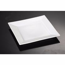 Platos Melamina 20,5cm Cuadrado Ideal Sushi Tipo Porcelana