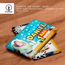 24 Convites Personalizados Toy Story Buzz