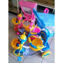 Triciclo Infantil Niña 3 En 1 Comodidad Baby Y Madre