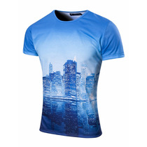 Valkymia Remera City Sublimada Manga Corta