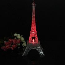 Centro De Mesa Torre Eiffel Paris Con Luz Led 25 Cm