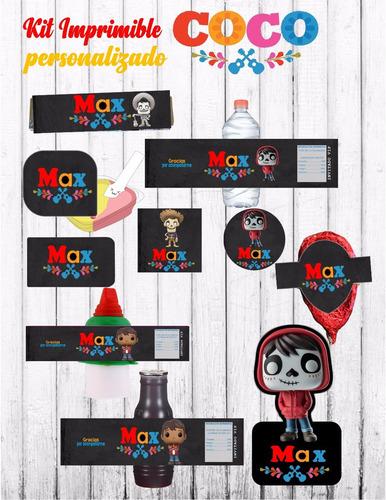Kit Imprimible Etiquetas Disney Coco Mesa De Dulces - $ 120.00 en ...