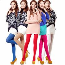 Pantimedias De Colores Gruesas Opacas Moda Japonesa Fashion