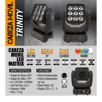 Cabeza Movil Led Matrix Trinity Sun Star