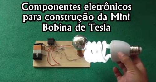 Circuito Bobina De Tesla : Kit dos componentes eletrônicos da mini bobina de tesla