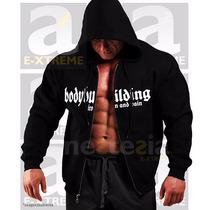 Campera Canguro Sudadera Bodybuilding Gym Fisicoculturistas