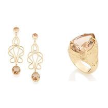 Conjunto Brinco+anel Rommanel Lançamentos Catálogo 2016