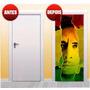 Adesivo Decorativo De Porta Bob Marley X4adesivos ( Pp01)