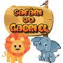 Safari - 1 Displays 50cm Placa Elipce Festa Infantil