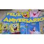 Kit Festa Bob Esponja 2 Balões Festa Infantil Toalha Mesa