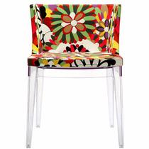 Silla Acrílico Moderna Decorativa Asiento Colores Floreada