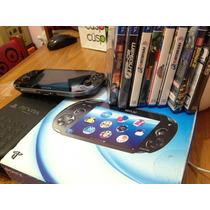 Ps Vita Sony + 8 Juegos + Funda Todo Original