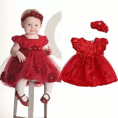 ae0a64ae3 Vestido Bebe Niña Rojo Fiesta -   295.00 en Mercado Libre