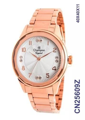 d91eda078e5 Relógio Feminino Champion Cn25609z Crystal Analógico Rosé - R  179 ...