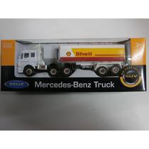 Camión Mercedes Benz Cisterna Shell - Welly 1.64