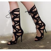Sandalias Romanas Gladiadoras Mujer Moda Zapatillas Calzado